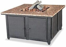 LP Gas Outdoor Firebowl with Granite Mantel