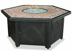 LP Gas Outdoor Firebowl with Decorative Tile Mantel