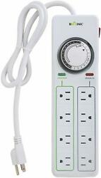 BN-LINK 8 Outlets Power Strip with 24hr programmable timer and su $22.99