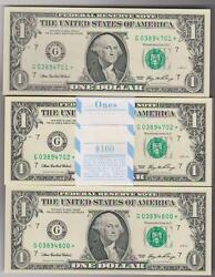 2006 quot;Gquot; Chicago $1 STAR PACK Fresh W BEP Strap $100FV 100 Consecutive Notes $599.99