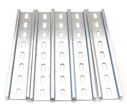 5 Stained Pieces DIN Rail Slotted Steel Zinc Plated RoHS 8 in. long 35mm 7.5mm $9.99