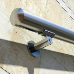 B52 Handrail Kit Aluminum Stairs Railing Anodized Stainless Steel Look 7 Ft and