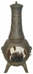 Western Basket Weave Jr.  Aluminum Chiminea