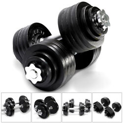 Yes4All Cast Iron Adjustable Dumbbell Weight Set 40 to 200 lbs (Set of 2)
