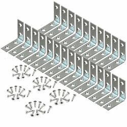 25 Pcs 1.5quot; inch quot;Lquot; Steel Corner Braces w Screws Pack LOT Right Angle Bracket
