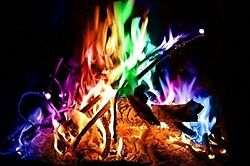 Outdoor Indoor Patio Mystical Fire Pit Add Fire Color Wood Burning Fireplace 25g