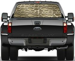 Punch Light Gold Carbon Fiber Rear Window Graphic Decal for Truck SUV Vans
