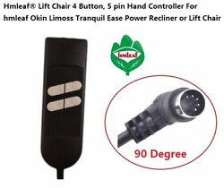Hmleaf Hand Controller for Okin Power Recliner or Lift Chair 4 Button5 pin 90°