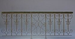 1920s Long Iron Balcony Piece Antique Rail Vintage Bannister Balustrade (9368)