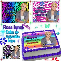 Ross Lynch cake toppers Edible image sugar decal birthday austin and ally $15.00