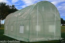 Green Garden House Walk In Greenhouse 15'x7' + Mesh Cover