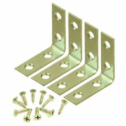 4 Pcs 2quot; inch quot;Lquot; Steel Corner Braces w Screws Pack LOT Right Angle Bracket
