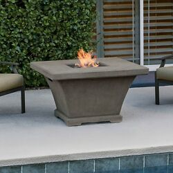 Real Flame Monaco Square Chat Height Fire Table in Glacier Grey - 11702LP-TGLG