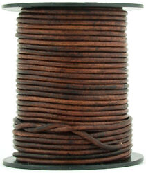 Xsotica® Brown Distressed Round Leather Cord 2mm 10 meters 11 yards $6.75