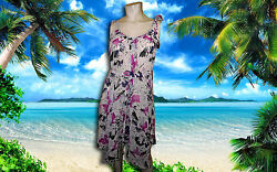 NWT GIDEON OBERSON Fuchsia and Purple BATHING SUIT COVER UP DRESS sz Small $24.99