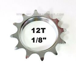 12T COG FIXED GEAR TRACK 12 TOOTH CHROME PLATE 1 8 INCH 1 8quot; FIXIE $7.49