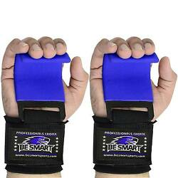 Be Smart Power Weight Lifting Training Gym Hook Grips Straps Wrist Support PAIR $14.99