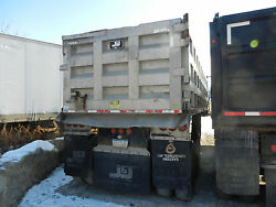 2001 J&J 26 Foot Aluminum Dump Trailer 80K LB Single Point Suspension Barn Door