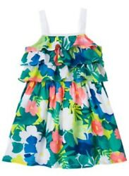 Nwt Gymboree Girls SUNNY SAFARI Tropical Tier Flower Ruffle Dress 2t