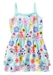 Gymboree Tropical Breeze Floral Print Knit Sleeveless Dress Girls Nwt Size 7