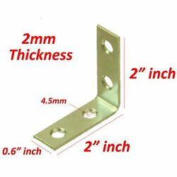 20 Pcs 2quot; inch quot;Lquot; Steel Corner Braces w Screws Pack LOT Right Angle Bracket