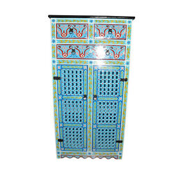 Turquoise Moroccan Cabinet Handmade Armoire