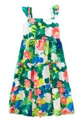 NWT Gymboree Girls SUNNY SAFARI Woven Tropical Flower Maxi Dress Size 4
