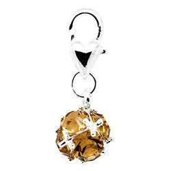November Birthstone Dangle Charm Pendant for European Clip on Charm Jewelry w L $7.99