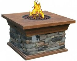 Buyers Choice Phat Tommy Yosemite Adjustable Stone Home Propane Fire Pit Table