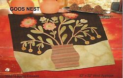 ~ SPRING BOUQUET ~ Goos Nest Penny Rug Wool Applique Pattern 22