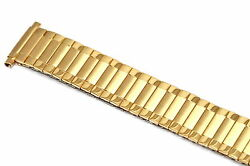 SPEIDEL 16-22MM EXTRA LONG GOLD RADIAL TWIST O FLEX EXPANSION WATCH BAND STRAP