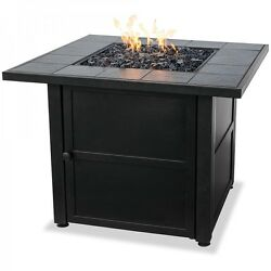 Gas Fire Pit Outdoor Fireplace Portable Heater Patio Backyard Deck Furniture