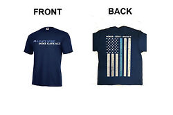 Police T-Shirt Honor Serve Protect Front & Back Kids S6-8-XL18-20 Adult S-5XL