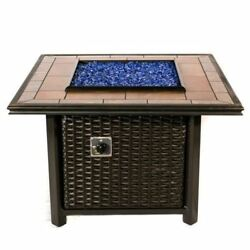 Wicker Square Fire Pit