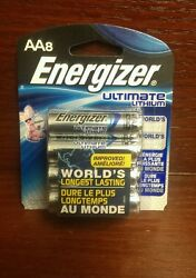 Energizer® Ultimate Lithium AA Batteries 8 Pack Exp: 12 2036 $13.00