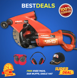 HILTI DCH 300 ELECTRIC DIAMOND CUTTERS PREOWNED FREE PADS EAR MUFFSFAST SHIP