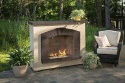 Stonearch Fireplace Surround with Rectangular Crystal Fire Burner