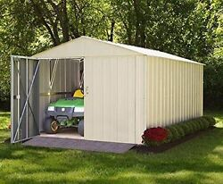 Commander 10x10 Shed - Eggshell and High Gable