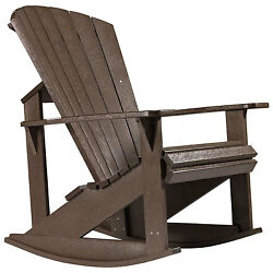 Recycled Plastic Adirondack Rocking Chair Chocolate 34
