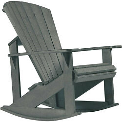 Recycled Plastic Adirondack Rocking Chair Slate 34