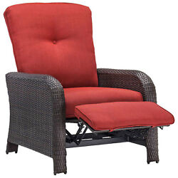 Outdoor Reclining Lounge Chair Crimson Red