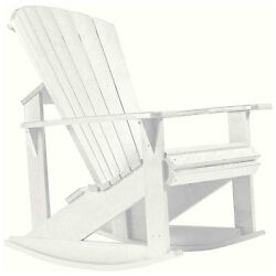 Recycled Plastic Adirondack Rocking Chair White 34