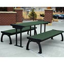 Heritage Picnic Table Recycled Plastic 6 Ft Black & Green