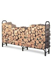 Wood Burning Fireplace Log Rack Firewood Holder Outdoor Storage Holder 8 Foot