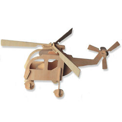 3 D Wooden Puzzle Small Helicopter Gift Item Brand New DCHI WPZ P001 $6.99