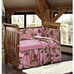 Crib Bedding Sets For Girls Pink Camo Baby Realtree Bumper Pads Sheets Baby