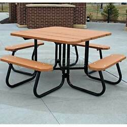 Recycled Plastic Square Picnic Table Red