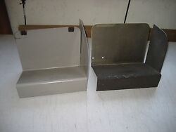 Used Paper Stacker Bin Metal 10quot;x6.5quot;x8quot;h CHOICE OF Black OR Gray w warranty $10.49
