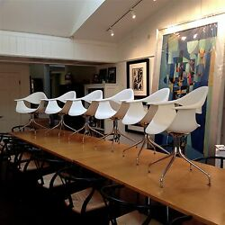 Set of 6 George Nelson Swag Leg Arm Chairs DWR $3595 Barely Used MCM Eames MOMA