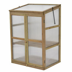 Garden Portable Wooden GreenHouse Cold Frame Raised Plants Shelve Protection NEW